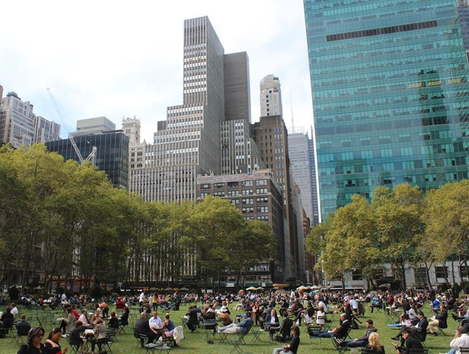 Bryant Park: Oasis in an Urban Jungle New York New York United States