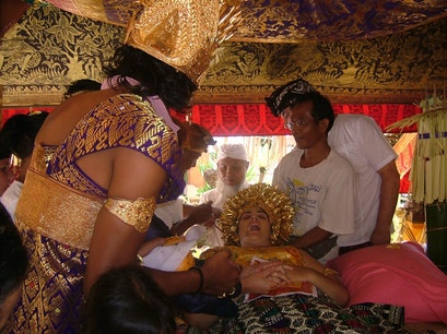 A Tooth-Filing Ceremony Sukawati  Indonesia