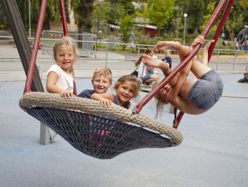 Child-Friendly Park in Center of City Gothenburg  Sweden