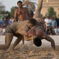 Pehlwani Wrestling on Dubai Creek Dubai  United Arab Emirates