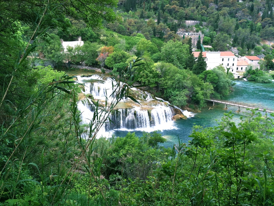 Hiking and swimming through Krka National Park Brištane  Croatia