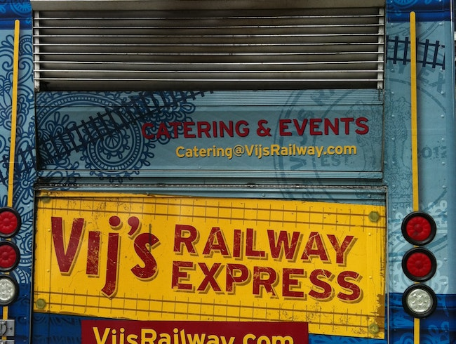 Vij's Railway Express Food Truck & Curry Art in Motion