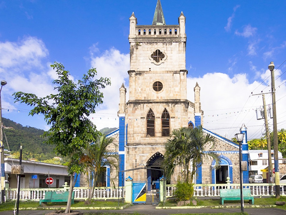 Church of the Assumption Soufriere  Saint Lucia