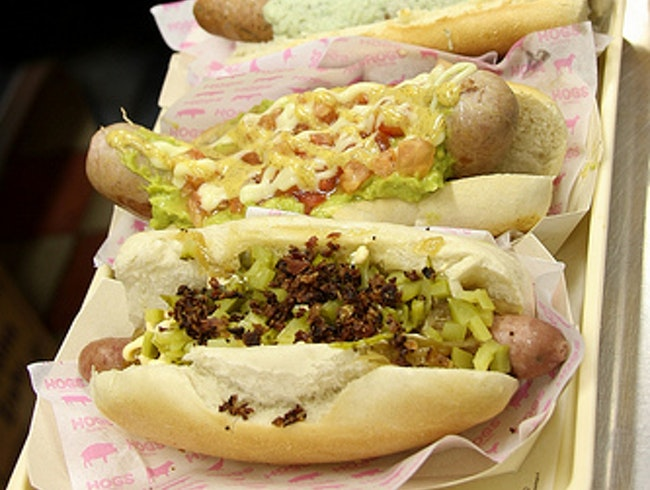 Gourmet Hog Dogs with the Works