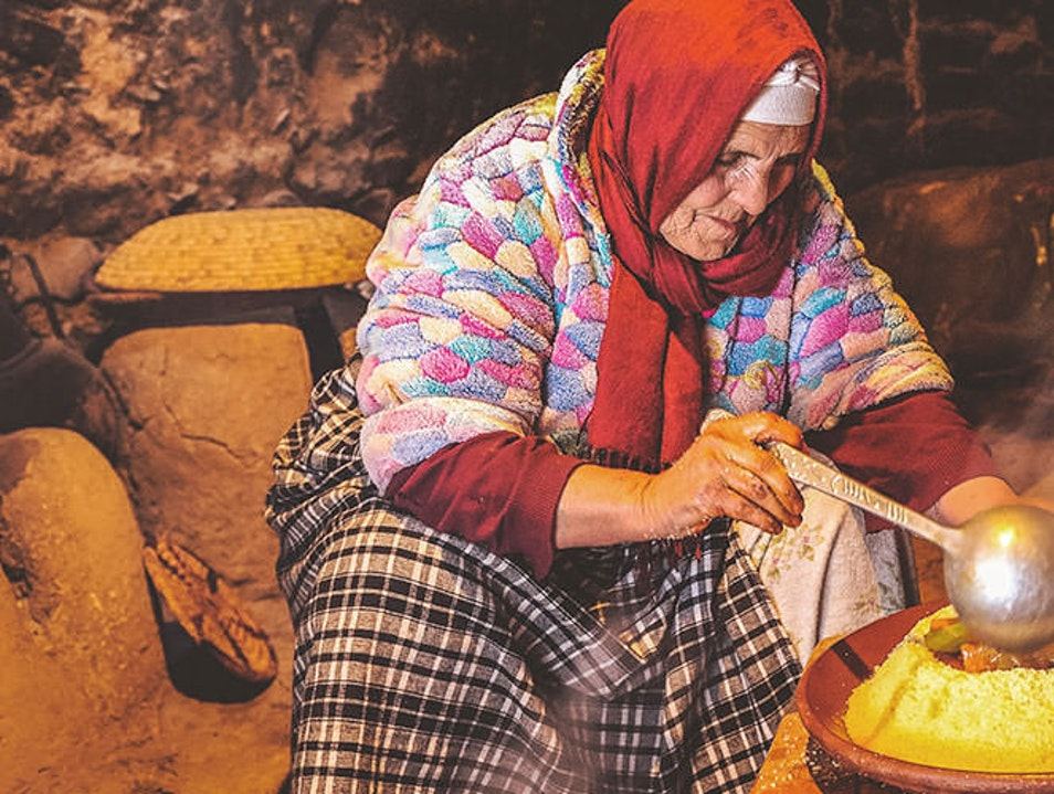 Couscous making in Morocco Ouarzazate  Morocco