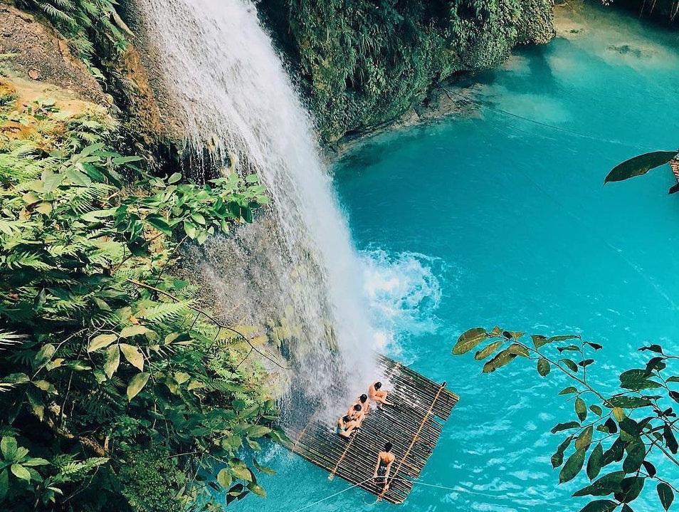 The mesmerizing Kawasan Falls in Cebu Cebu City  Philippines