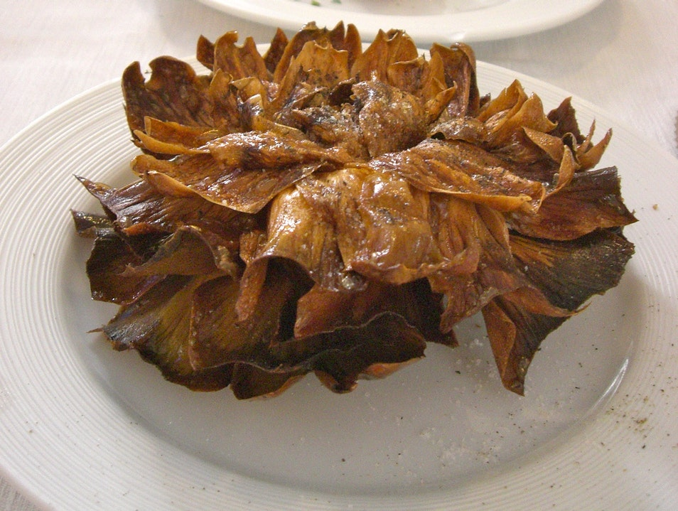 Jewish Style Artichoke - You Must Try This! Rome  Italy