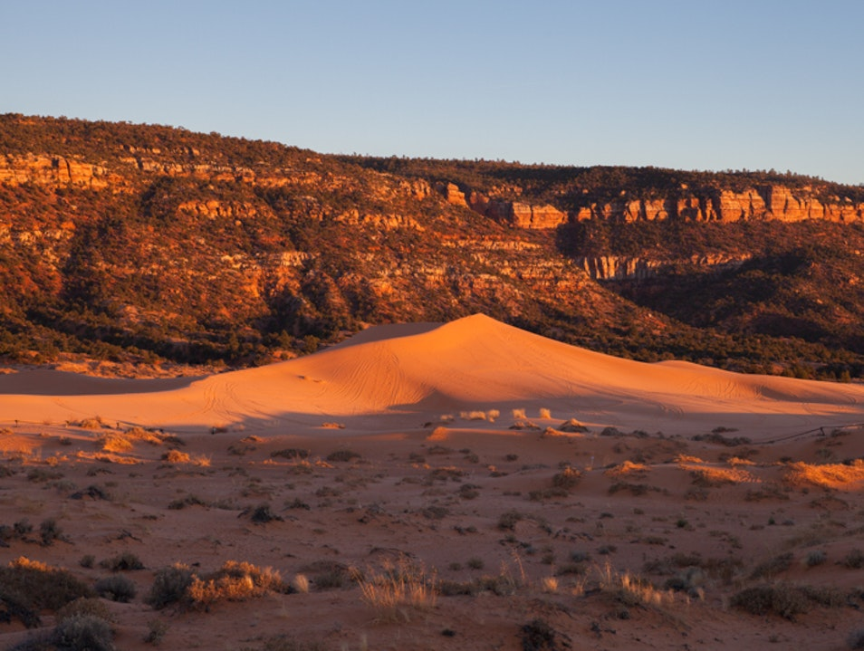 Beautiful sunsets at Coral Pink Sand Dunes State Park