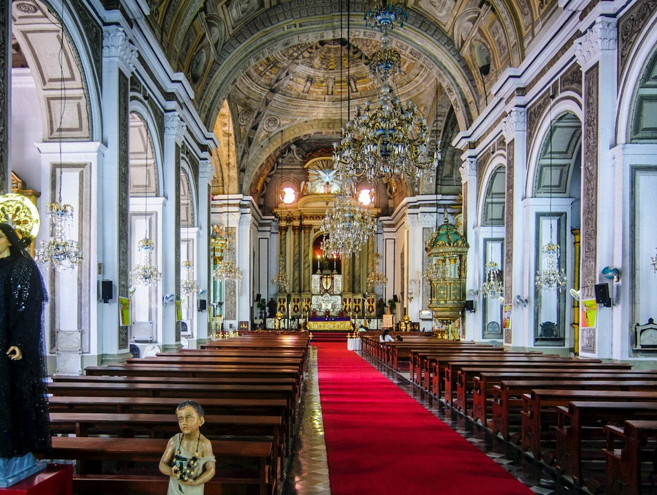 San Augustin Church and Manila Cathedral Manila  Philippines