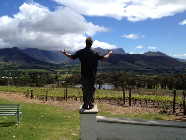 Delicious Lunch in South Africa's Wine Country