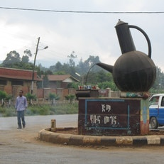 (A round-about in Jimma, western Ethiopia)