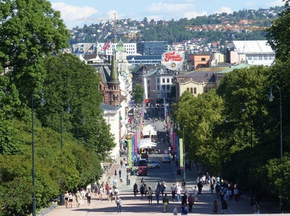 Karl Johans gate Oslo  Norway