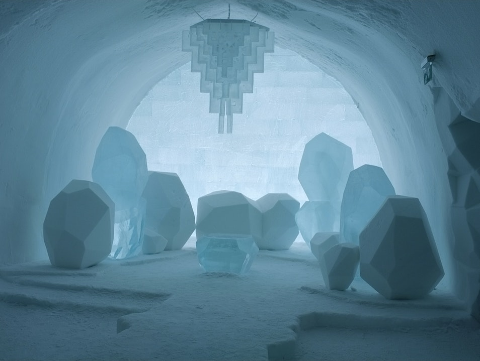 Night in the ICEHOTEL Kiruna  Sweden