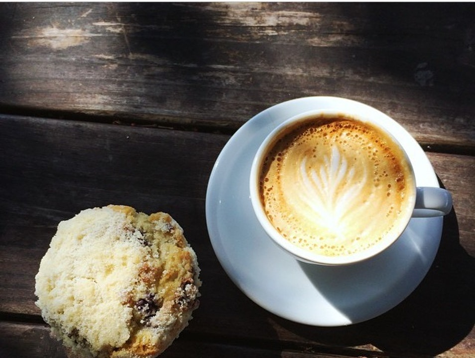 Chill coffee shop with outdoor seating Austin Texas United States