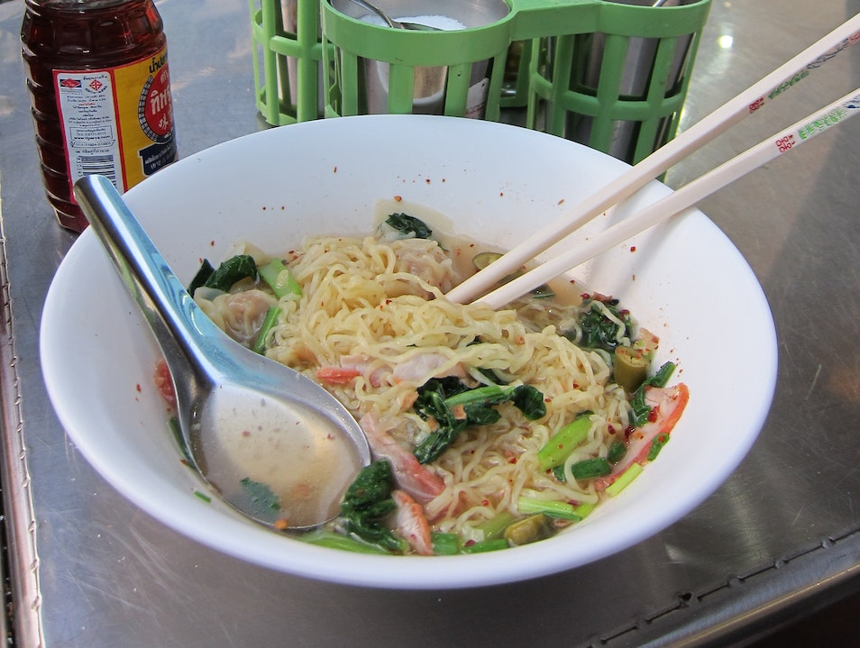Eat soup.  Bliss out.  All for only 30 Thai Baht. Bangkok  Thailand