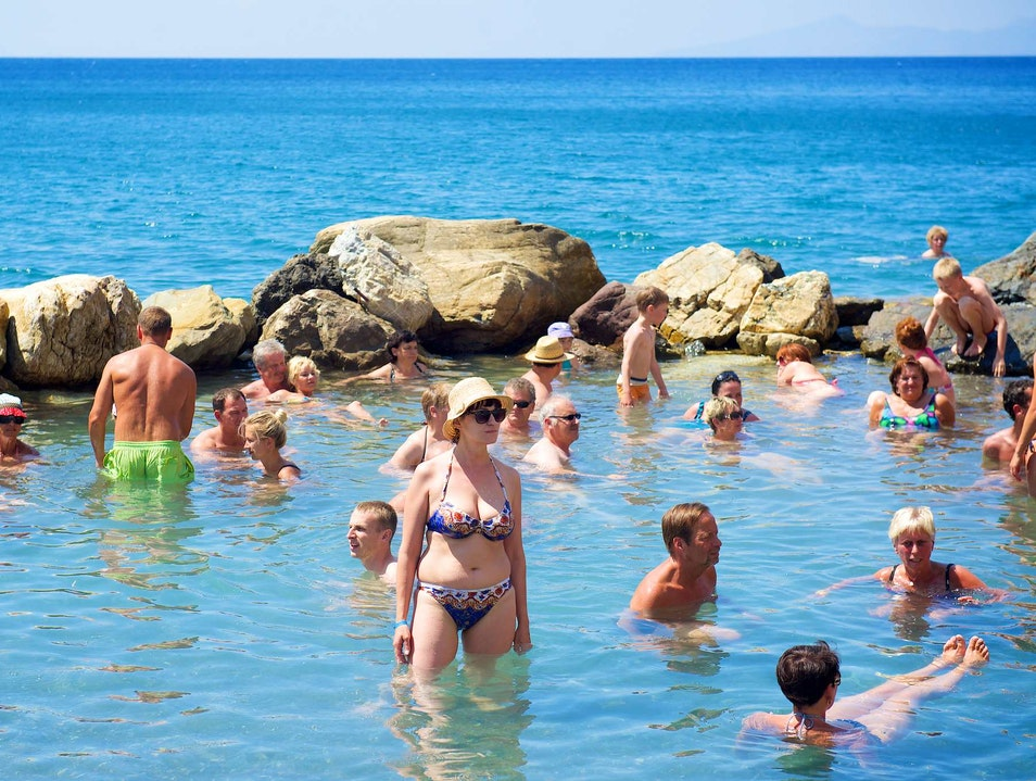 Melt Muscle Aches in the Therma Springs Near Agios Fokas Kos  Greece