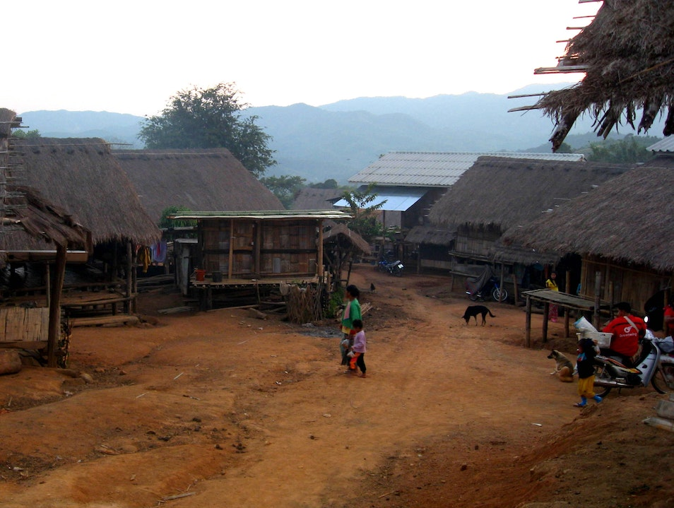 Staying with the Lahu hill tribe Mae Fa Luang  Thailand