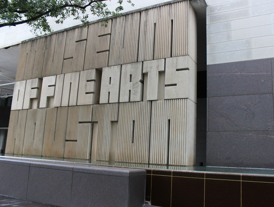 The Finest Art in Houston, at the Museum of Fine Arts Houston Texas United States