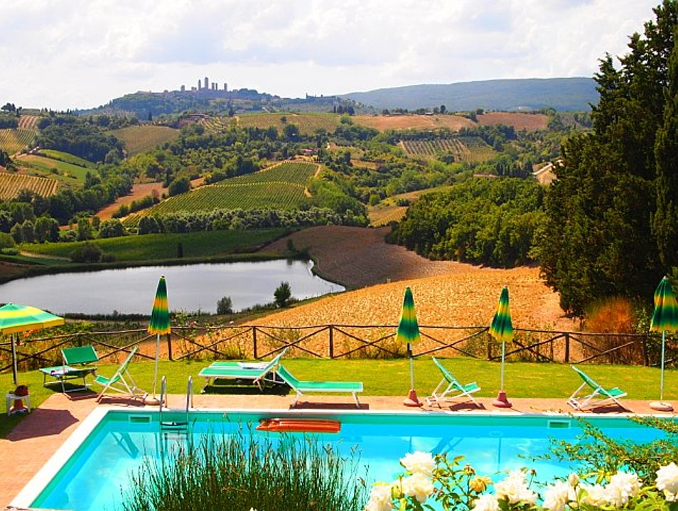 The Rolling Hills of Tuscany San Gimignano  Italy