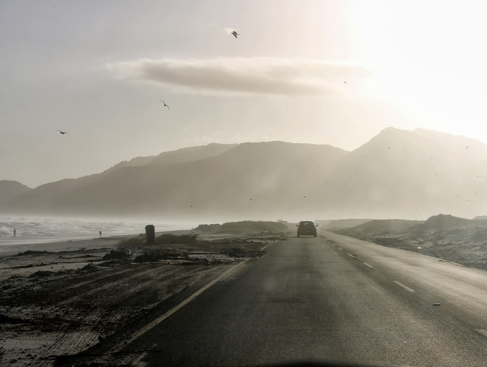 Cruising along the False Bay Coastline Cape Town  South Africa