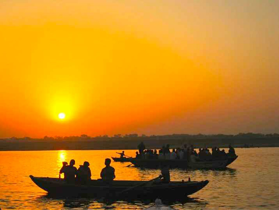 Sun Up on the Ganges Nathupur  India