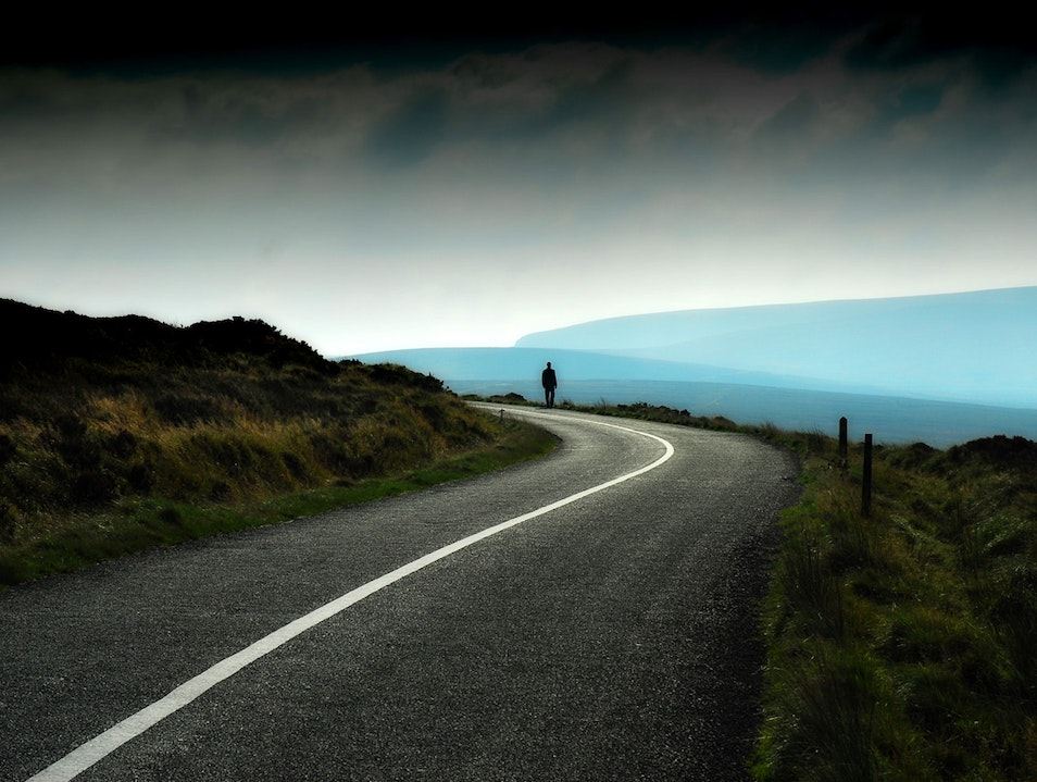 On the Road to Sally Gap With A Storm Coming In Laragh  Ireland
