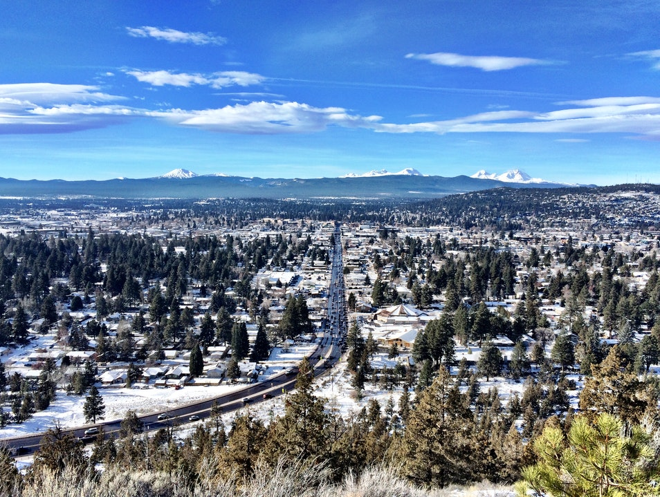 City hike with views of Mt. Bachelor and beyond Bend Oregon United States