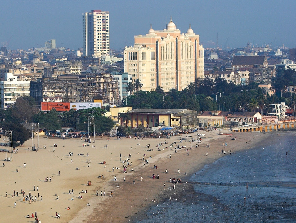 Marine Drive and Chowpatty Beach Mumbai  India