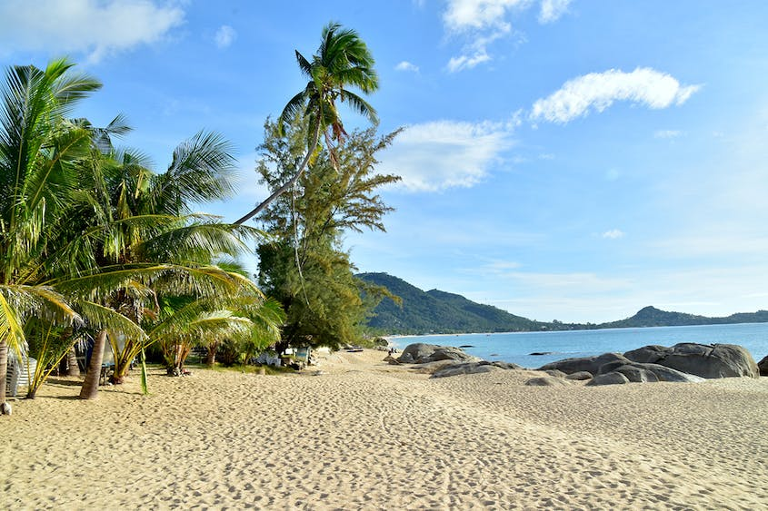 Lamai Beach is a family-friendly option with plentiful hotels, restaurants, and watersport outfitters.