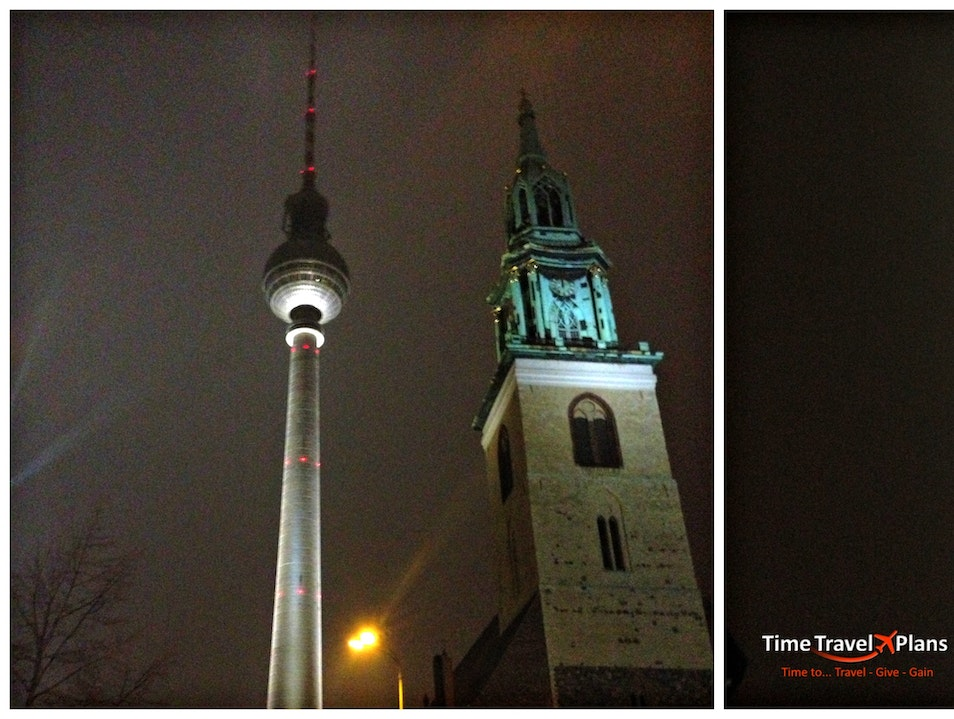 A Night Visit to the Berlin TV Tower Berlin  Germany
