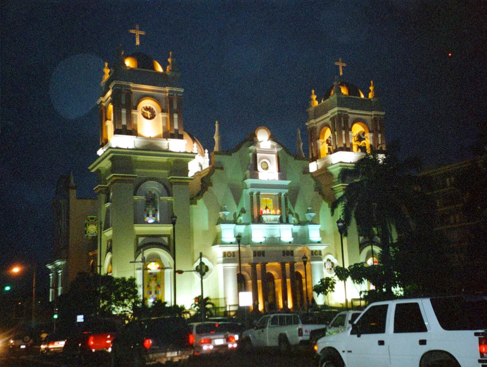Enchanting Cathedral Lights Up The Night San Pedro Sula  Honduras