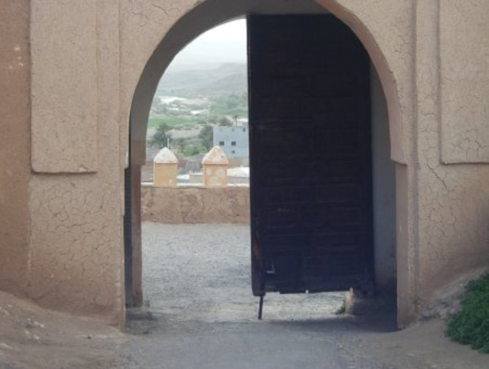 View from the Kasbah Ouarzazate  Morocco