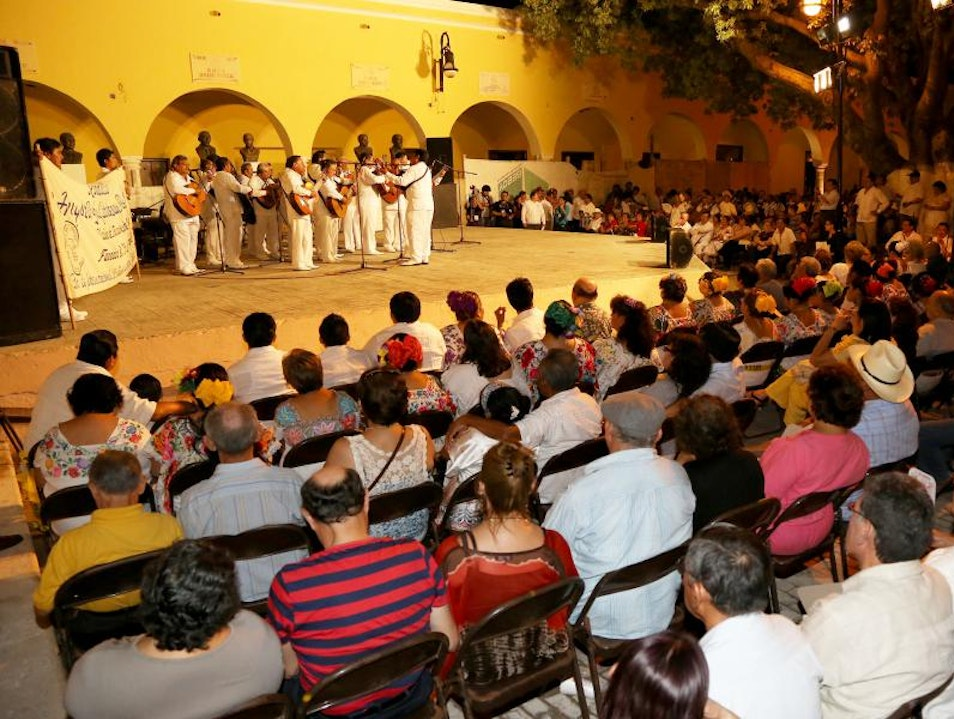 Nightlife, shopping and art in the Yucatan Merida  Mexico