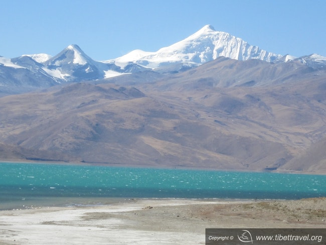 Turquoise lake - the Yamdrok Tso