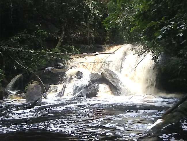 Pristine waterfall in Guyana