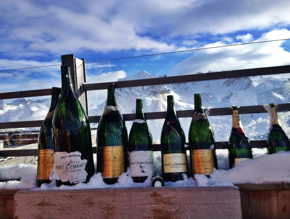 Bubbly and Lunch on the Slopes in Lech Lech  Austria