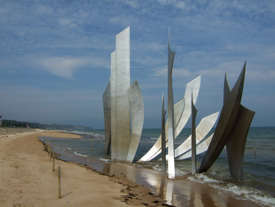 """Les Braves"" Omaha Beach, France"