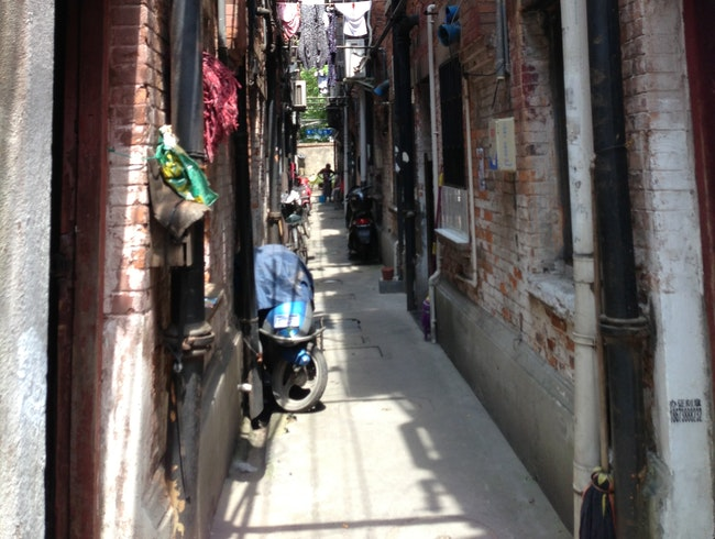 Typical Narrow Lane in Old Shanghai