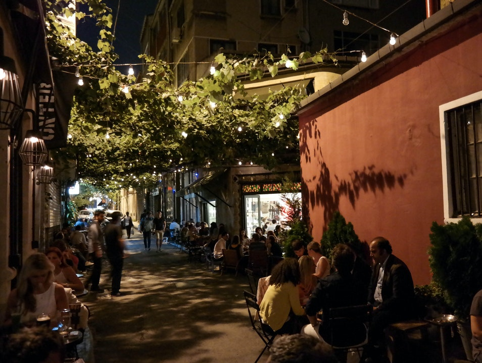 A Coffee Under the Vines in Istanbul