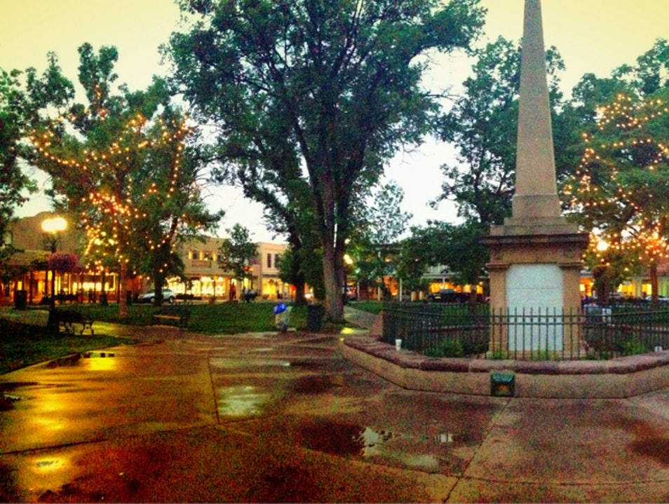 Santa Fe Plaza After A Rainstorm