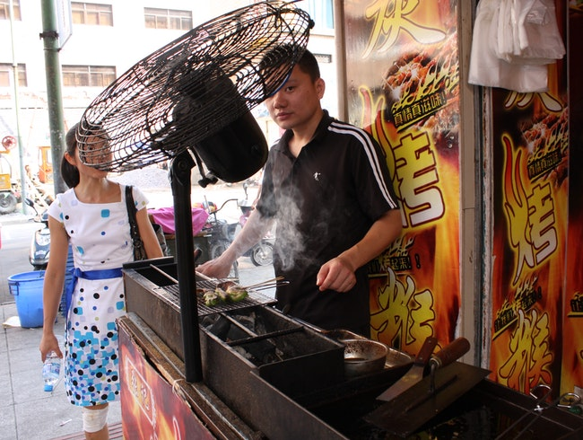 Barbecue street food eating. Do it its good for you!