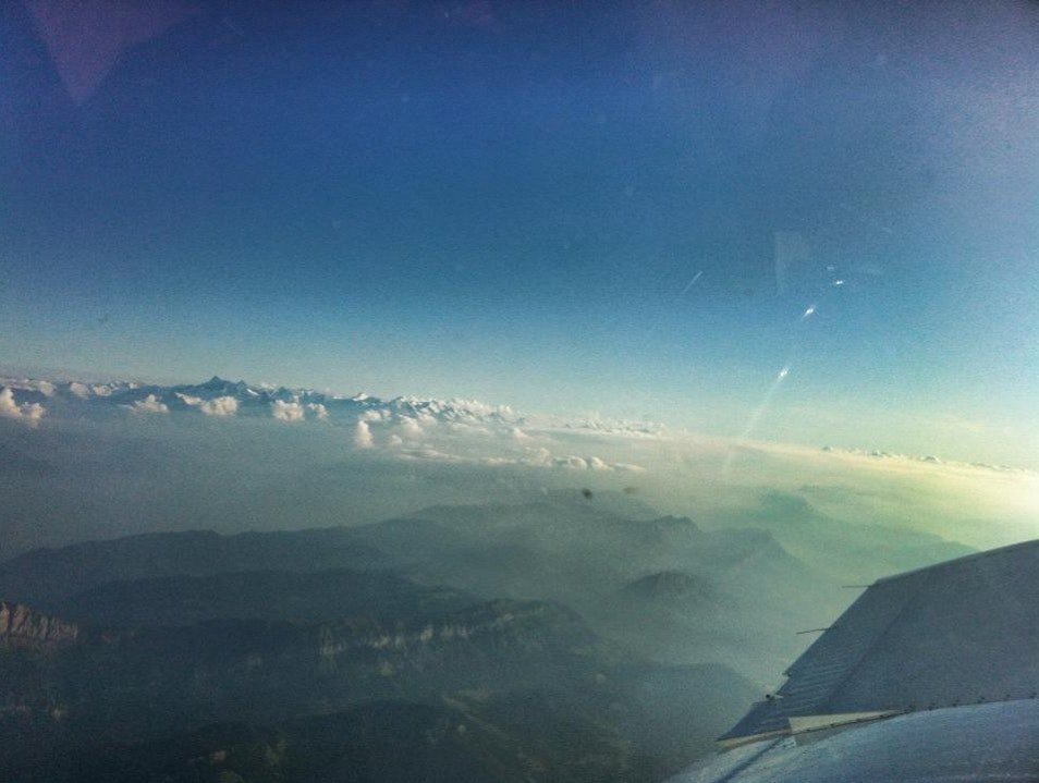 Swiss Alps Sunset Skydive