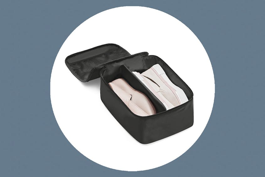 The Shoe Cubes come in Black and Coast, both in small and large sizes.