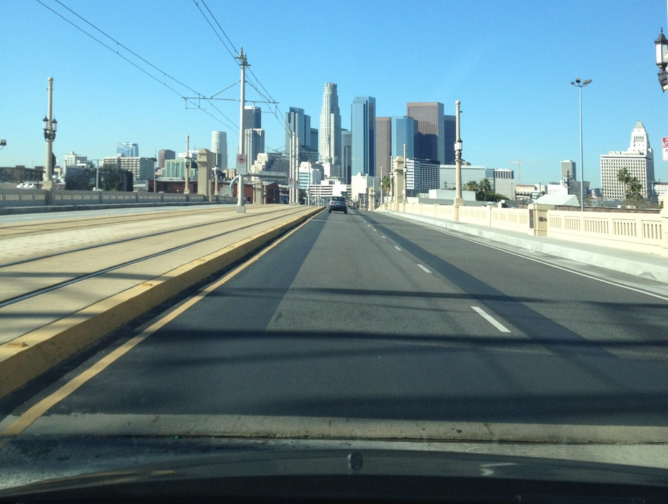 Driving Behind The City Los Angeles California United States
