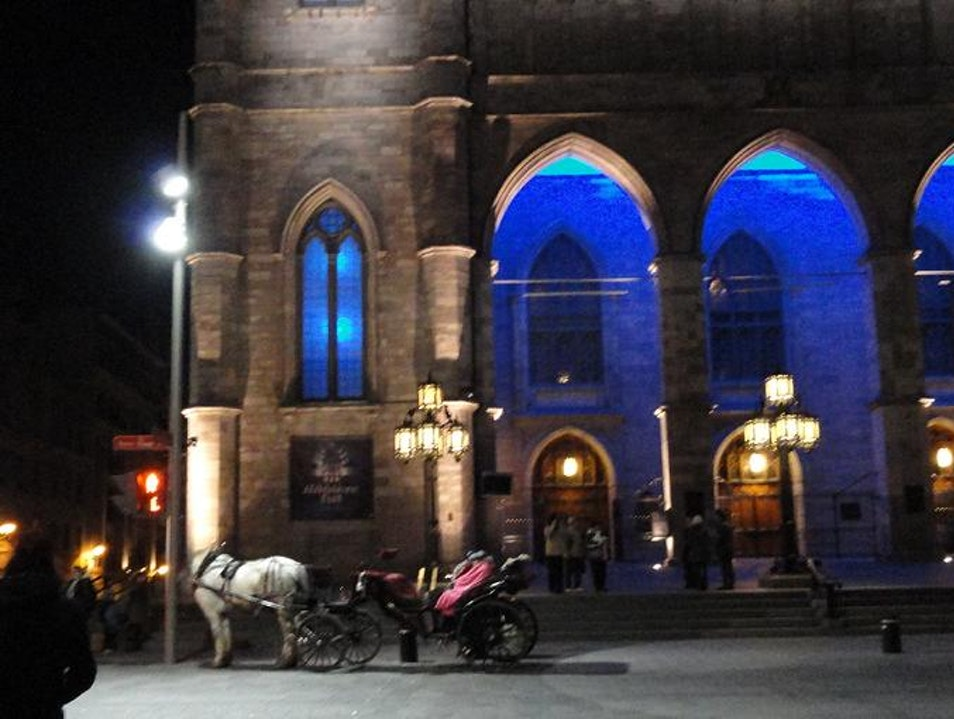Carriage Ride by Montreal's Notre Dame at Night