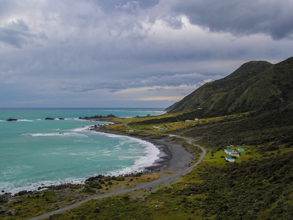 Driving to the Edge of the North Island Cape Palliser  New Zealand