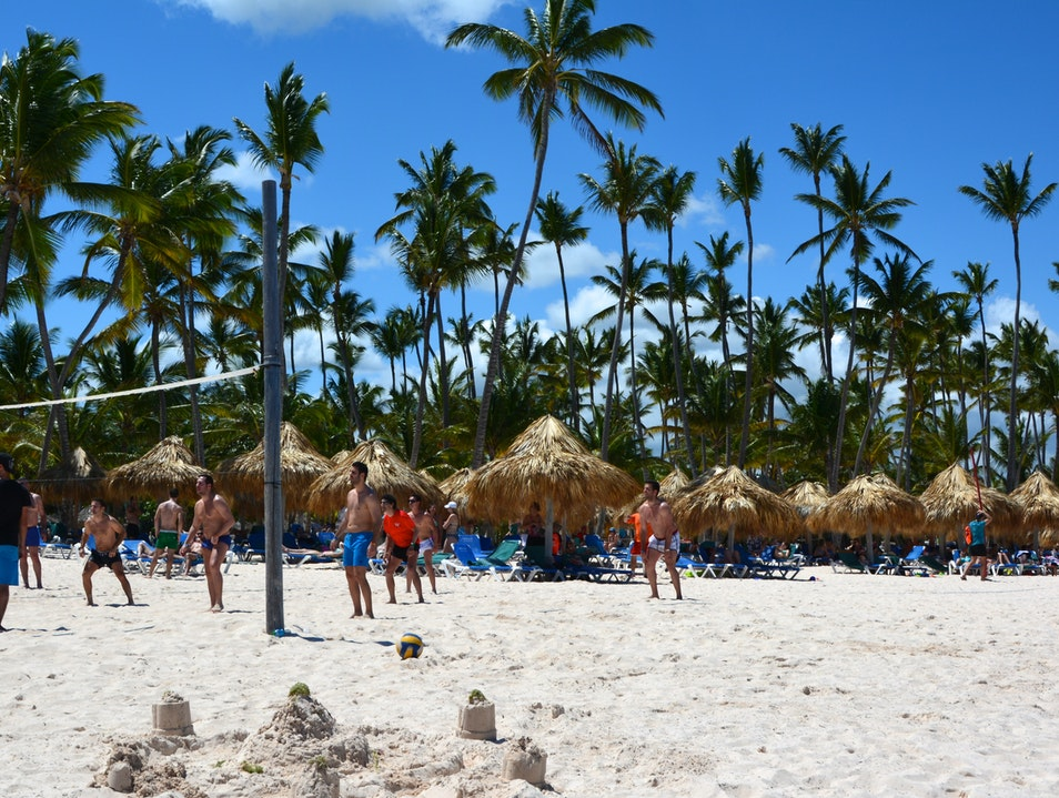 Volleyball on the Beach Bavaro  Dominican Republic