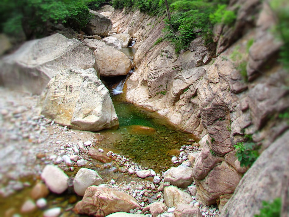 ...like walking in a silk scroll painting; a mountain oasis Yangyang-gun  South Korea