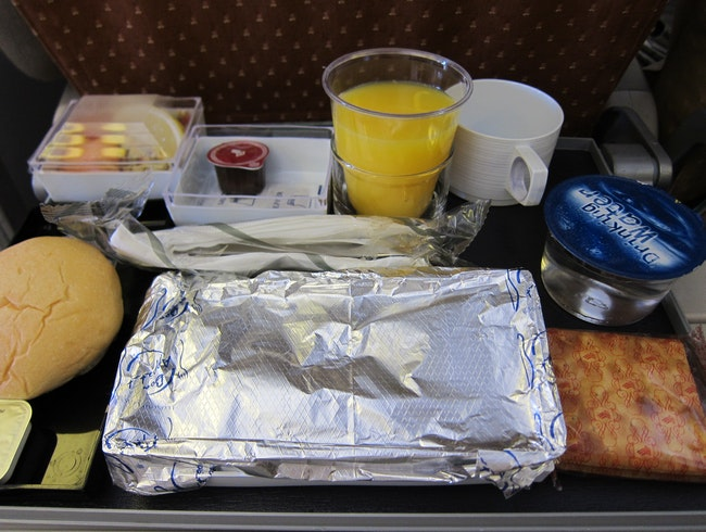 Food on Singapore Airlines en route to Frankfurt