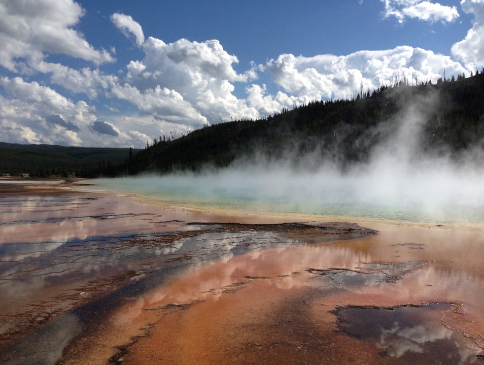 Grand Prismatic Pool  Yellowstone National Park Wyoming United States
